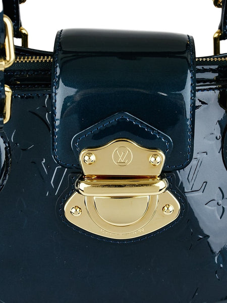 SOLD - Louis Vuitton Bleu Nuit Vernis Melrose Avenue Bag. Pure Class! Coco et Louis