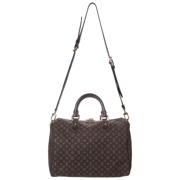 Louis Vuitton Brown Idylle Speedy Handbag w Lock. New Condition! Coco et Louis