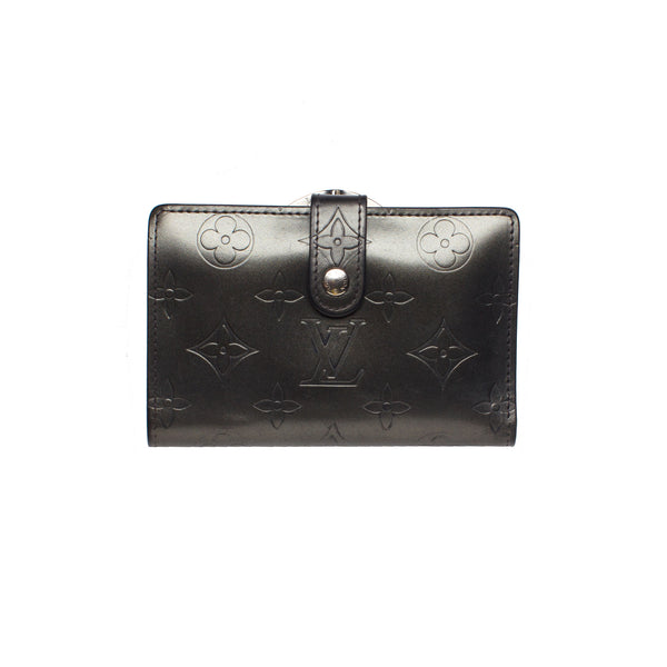Louis Vuitton Steel Grey Embossed Vernis Leather Wallet. Lovely! - Coco et Louis - 1