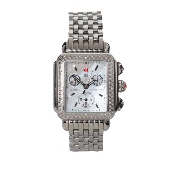 Michele Deco Diamond Chronograph Watch. Spectacular! Coco et Louis