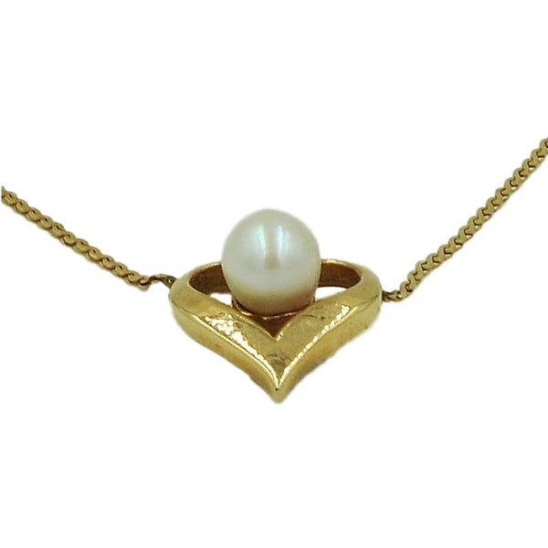 14K Gold Necklace w/ Genuine Vintage Pearl. - Coco et Louis - 4