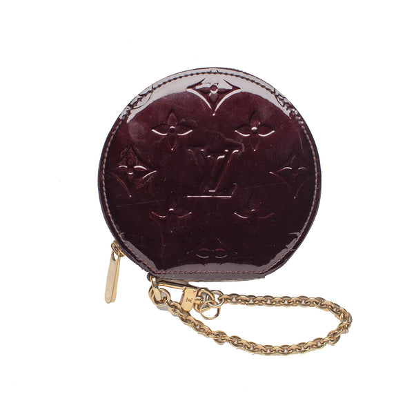 Sold -Louis Vuitton Vernis Amarante Round Porte Monnaie Coin Case/Wallet. Coco et Louis