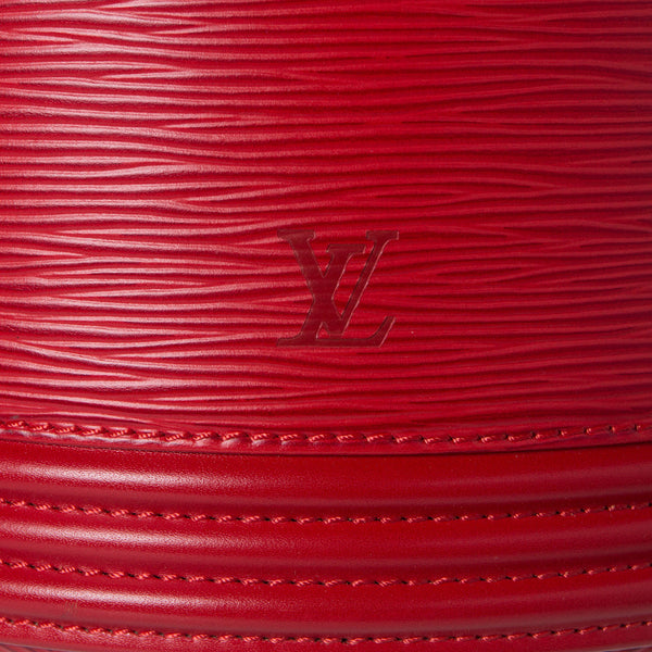 Sold -Louis Vuitton Epi Rouge Castillan Cannes Cosmetics Vanity Handbag. Spectacular! Coco et Louis