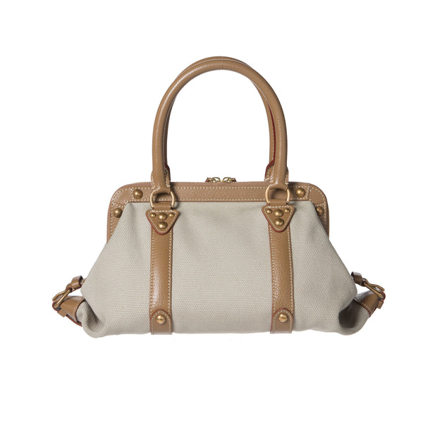 Louis Vuitton Beige Sac De Nuit Trianon GM Bag. Gorgeous! Coco et Louis