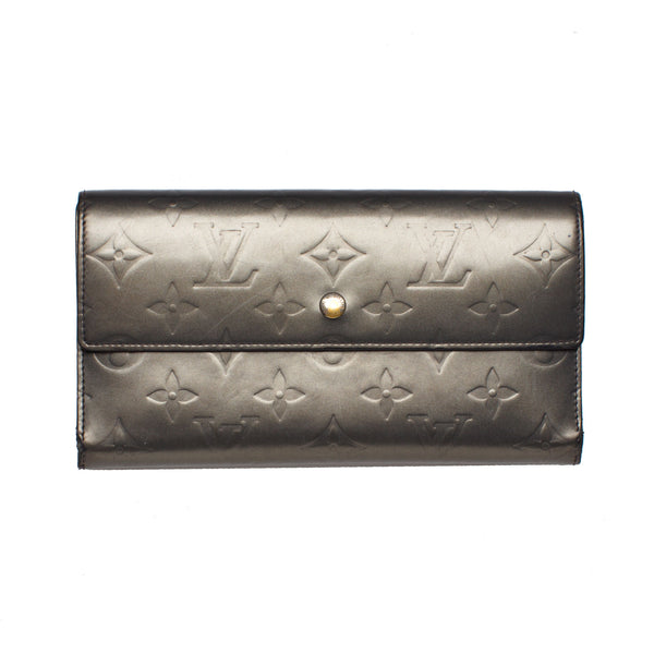 Louis Vuitton Gray Vernis Verl Bronze Sarah Wallet. Beautiful! - Coco et Louis - 1
