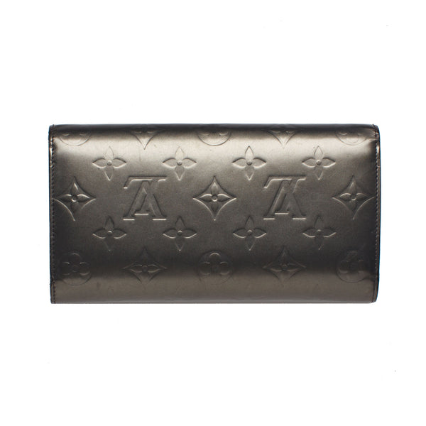Louis Vuitton Gray Vernis Verl Bronze Sarah Wallet. Beautiful! - Coco et Louis - 2