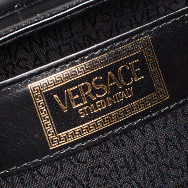 Gianni Versace Black Couture Medusa Vanity Bag. Spectacular! Coco et Louis