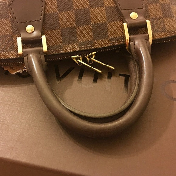 SOLD - Louis Vuitton Alma Damier Leather Bag.