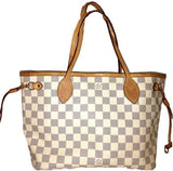 Sold - Louis Vuitton Azur Neverfull PM Bag.  Perfect for Spring/Summer