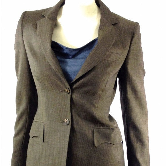 Burberry Gorgeous Pinstripe Jacket & Pants. Size 8 Coco et Louis