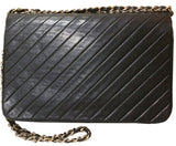 Sold -Chanel Chevron Quilted Rare Classic Flap Bag. Beautifully Vintage! Coco et Louis