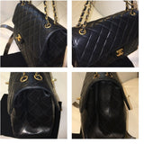 Chanel Black TWO FACE~DOUBLE SIDED Flap Jumbo Bag. EXTREMELY RARE!