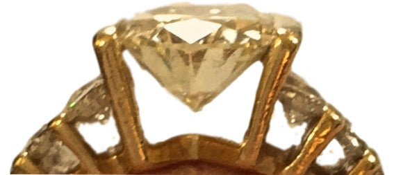 Yellow Canary 2.3 CT Diamond Ring. Custom Designed! Size 5.5 Coco et Louis