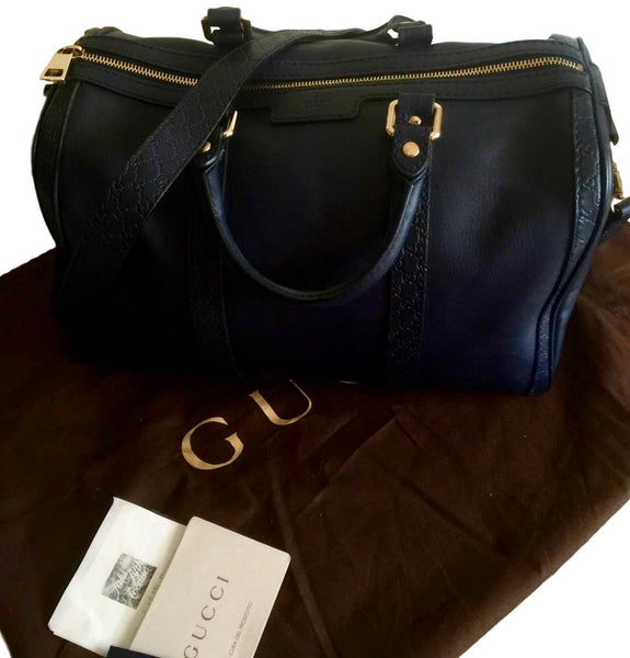 Gucci Navy Blue Boston Bag.  Pure Class! - Coco et Louis - 7
