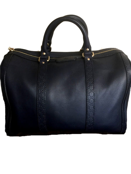Gucci Navy Blue Boston Bag.  Pure Class! - Coco et Louis - 3
