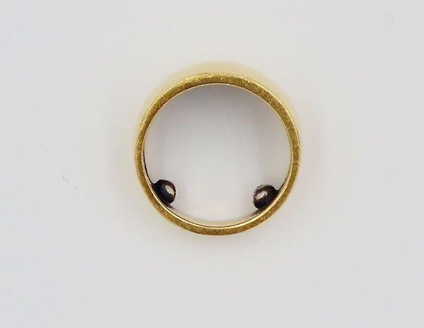 14K Gold Thick Band Ring. - Coco et Louis - 5
