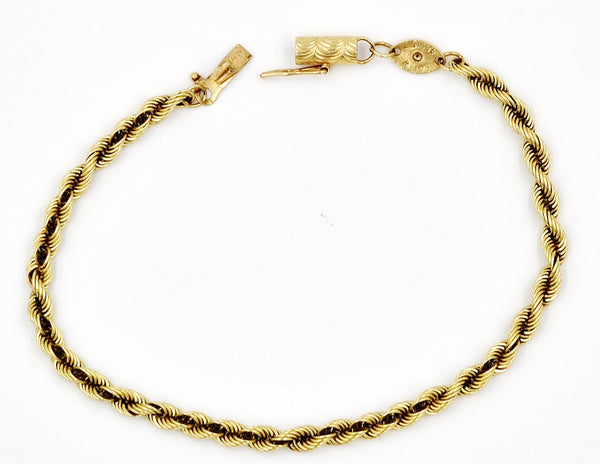 Yellow Gold 14K Rope Chain Bracelet. - Coco et Louis - 2