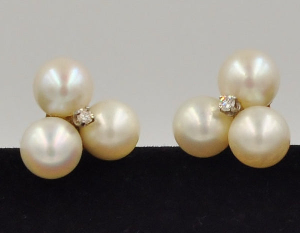 Pearl & Diamond 14K White Gold Earrings. Coco et Louis