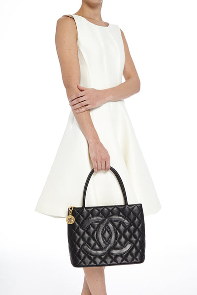 039c5002e5 SOLD - Chanel Black Caviar Medallion Tote w/ Gold Hardware. Exquisite! –  Coco et Louis