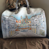 Gucci White Limited Edition Roma Design Large Bag. Pure Class! Coco et Louis