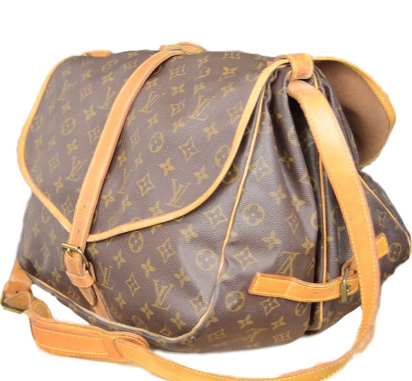 Louis Vuitton Monogram 35 Messenger Bag. Duel Sided Crossbody! Coco et Louis
