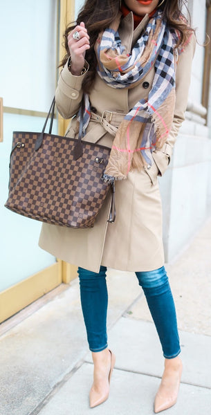 SOLD - Louis Vuitton Damier Neverfull MM.  Perfection!