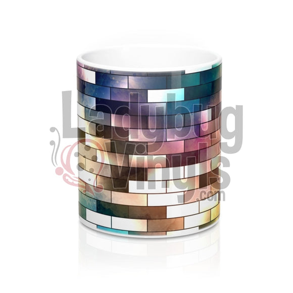 Abstract Bricks All Over Print 11oz Coffee Mug - LadybugVinyls
