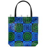 Abstract Checkered Tote Bag - LadybugVinyls