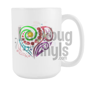 Abstract Heart 15oz Coffee Mug - LadybugVinyls