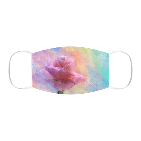 Watercolor Rose Snug-Fit Polyester Face Mask