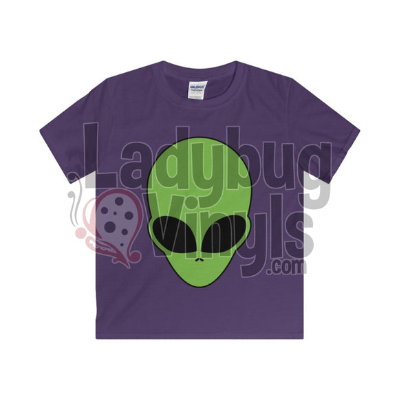 Alien Face Boy's T-Shirt - LadybugVinyls