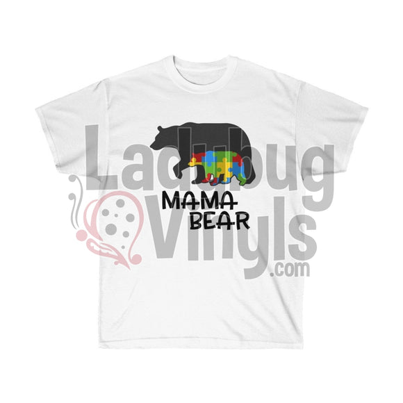 Autism Mama Bear Ultra Cotton T-Shirt - LadybugVinyls