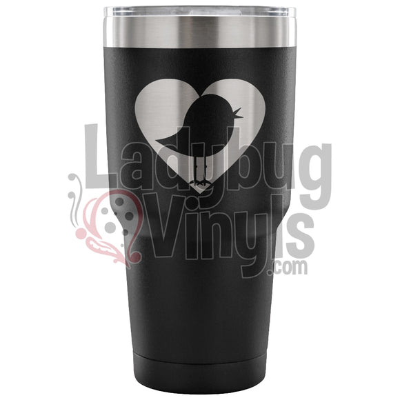 Bird Heart 30oz Tumbler - LadybugVinyls