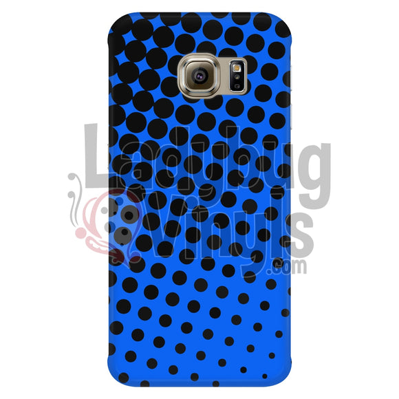 Black and Blue Halftone Phone Case - LadybugVinyls
