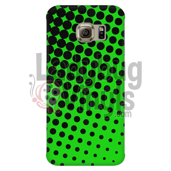 Black and Green Halftone Phone Case - LadybugVinyls