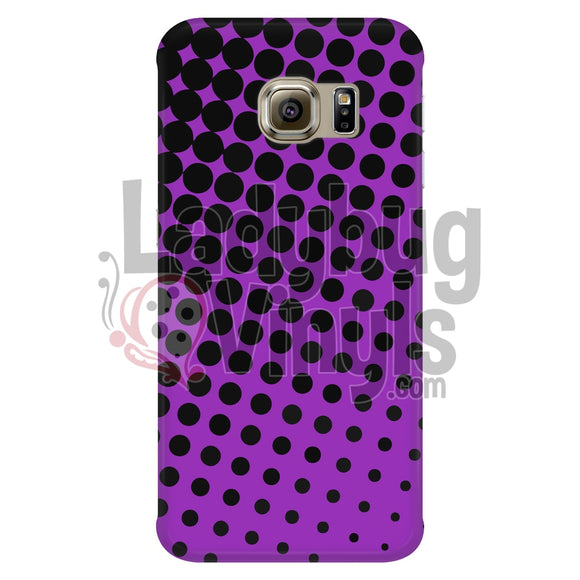 Black and Purple Halftone Phone Case - LadybugVinyls