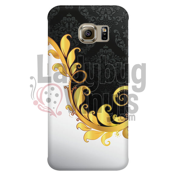 Black and White Flourish Phone Case - LadybugVinyls