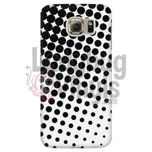 Black and White Halftone Phone Case - LadybugVinyls
