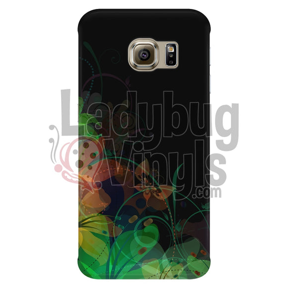 Black Butterfly Swirl Phone Case - LadybugVinyls