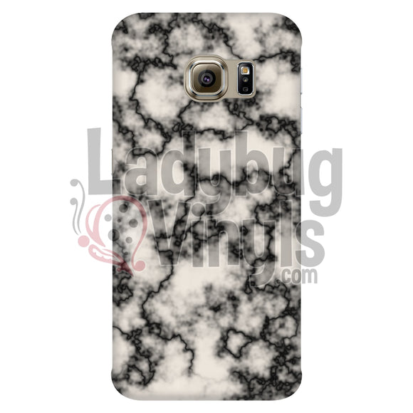 Black on White Marble Phone Case - LadybugVinyls