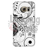 Black White Flourish Phone Case - LadybugVinyls