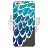 Blue and Green Feather Phone Case - LadybugVinyls