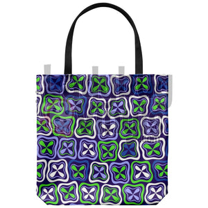 Blue Green Abstract Tote Bag - LadybugVinyls
