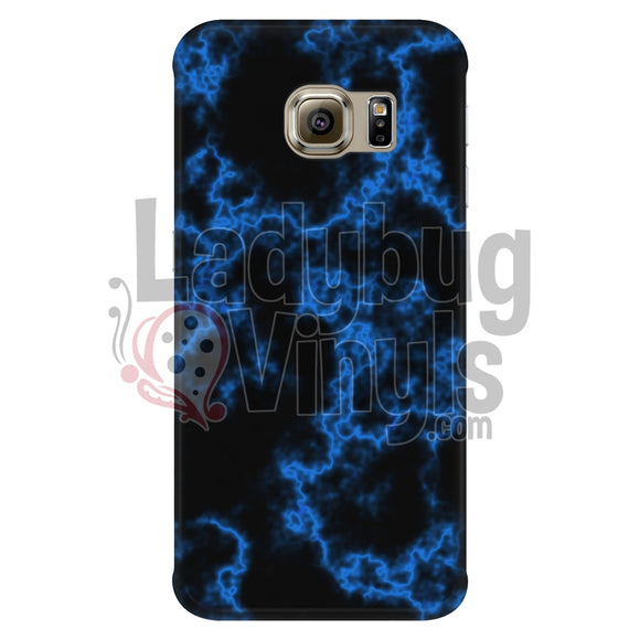 Blue on Black Marble Phone Case - LadybugVinyls