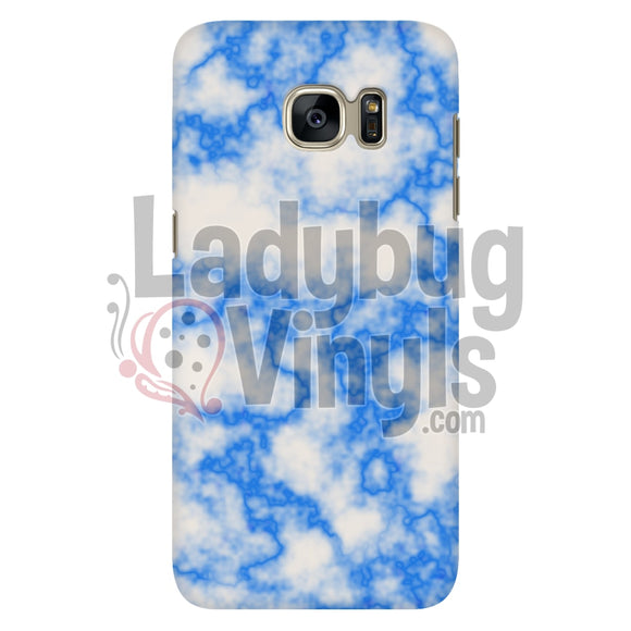 Blue on White Marble Phone Case - LadybugVinyls