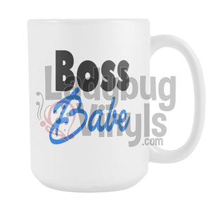 Boss Babe 15oz Coffee Mug - LadybugVinyls