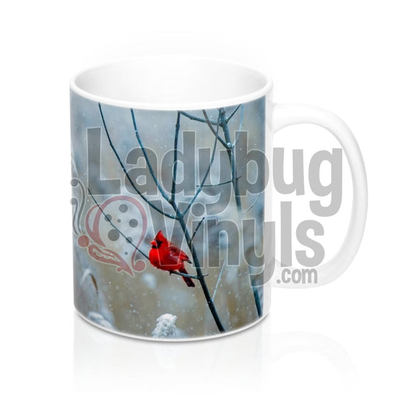 Cardinal All Over Print 11oz Coffee Mug - LadybugVinyls