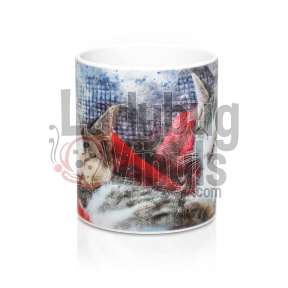 Cats All Over Print 11oz Coffee Mug - LadybugVinyls