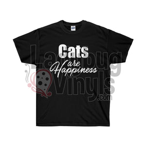 Cats Are Happiness Ultra Cotton T-Shirt - LadybugVinyls
