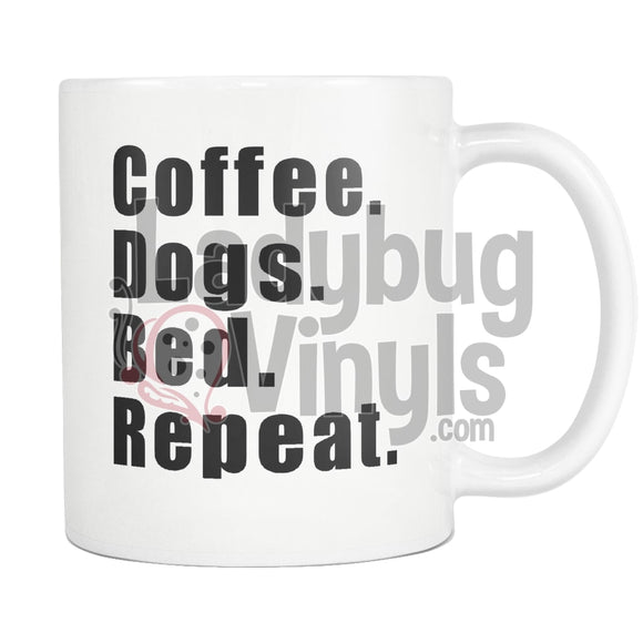 Coffee Dogs Bed Repeat 11Oz Mug Drinkware